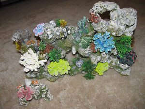 Large and small artificial coral ornament Cambridge Kitchener Area image 1