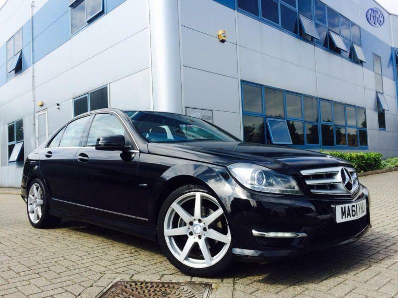 2011 61 reg mercedes benz c200 2 1 cdi amg sport saloon black sat nav specd in watford. Black Bedroom Furniture Sets. Home Design Ideas