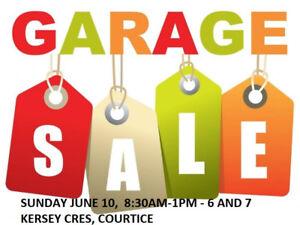 Garage Sale  Sunday June 10