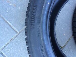 245 45 18 NITTO SN2 snow tires MINT!!!10/10 Set of 2 London Ontario image 2