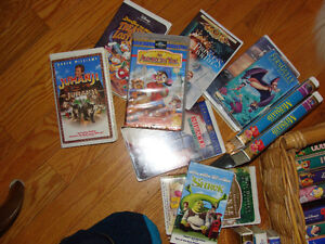 vhs movies.. lots of disney/kids and other