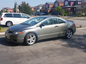 2007 Honda Civic Coupe - low kms, clean Alberta car