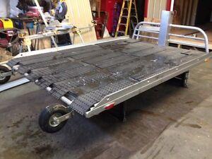 Hydraulic lift sled or ATV deck