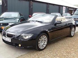 BMW 645CI 4.4 V8 Muscle Convertible Black Automatic Petrol 2005 (05)