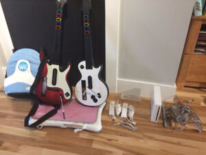 Nintendo Wii  System with Guitars, Wii Fit, Games ($200 O.B.O)
