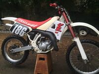 Yamaha Yz125w 1989 motocross bike