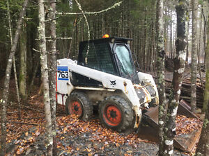 SOLD SOLD.  Bobcat 763 with bucket and blade