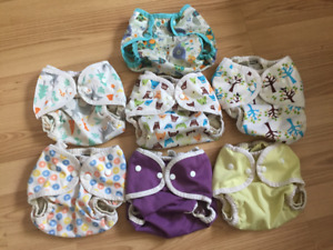 7 X Blueberry & Thirsties Diaper Covers