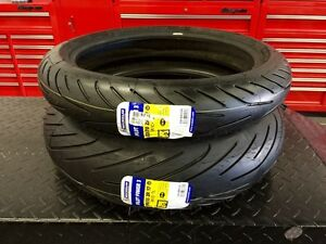 ★★ NEW Michelin Pilot Power 3 Motorcycle Tires 180 / 120 Set ★★