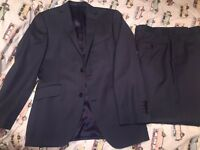 Paul Costelloe suit blue 38R new