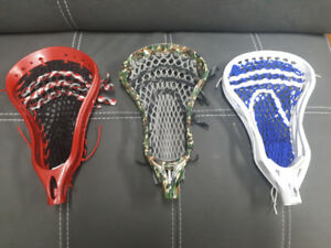 3 Lacrosse Heads and Shafts