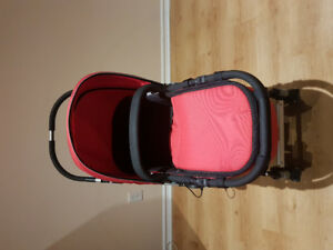 Baby stroller with canopy and car seat