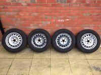 Vw steel wheels with Michelin winter tyres