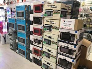 MICROWAVE OVENS PANASONIC, MAINSTAYS, HAMILTON BEACH, SHARP, FRIGDAIRE STARTING FROM $44.99-$199.99