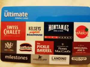 The Ultimate Dining Card (Cara Foods) - gift card