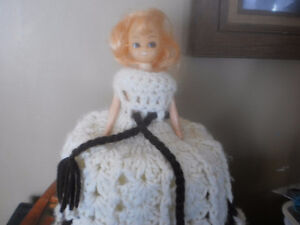 vintage doll toilet paper cover