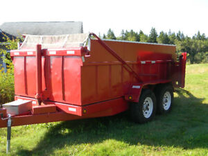 Dump trailer for rent or hire