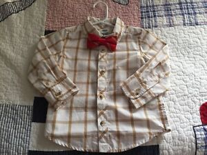 Old Navy dress shirt and bow tie