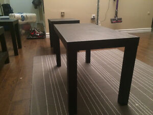 moving sale - wooden tables (black)