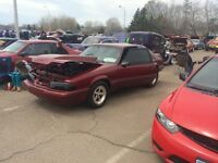 1989 ford mustang drag car