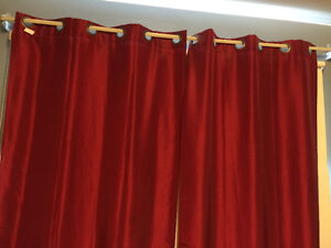 MUST SELL - 2 Piece Red Curtains