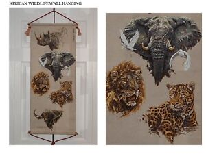 HAND PAINTED AFRICAN WILDLIFE WALL HANGING Peterborough Peterborough Area image 1