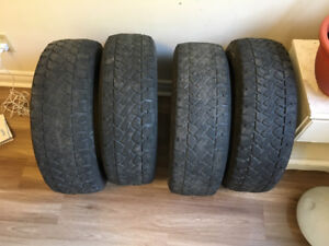"""Four (4) winter tires of size 15""""  for $ 100"""