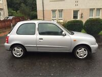 Nissan Micra Tempest 1.0 3 door hatch 2002 silver MOT March 2017