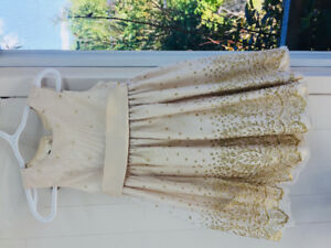 Size 3 Dress with gold sparkles