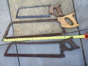 Old Disston Meat Saw Vintage Butcher Tools Frozen Cutting Tool