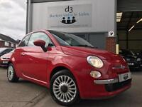 2009/59 Fiat 500 1.2 LOUNGE Passadoble Red £30 Road Tax TOP SPEC NICE TIDY CAR!