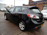 Mazda 3 1.6D TS (1 OWNER + FULL SERVICE HISTORY + LOW RATE FINANCE AVAILABLE) (black) 2010