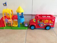 Fisher price little people play park and school bus
