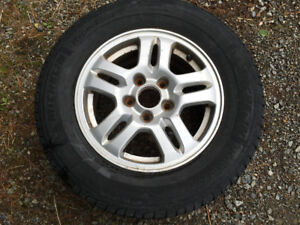 Honda CRV Tire and Alloy Rim Like New