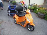Ebike Gio 500. 3 Wheeled Electric Scooter with Trailer.Must See!