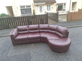 12. Oxblood corner sofa