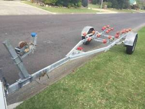 Galvanised trailer to suit up to 5.5mtr boat good solid condition Eight Mile Plains Brisbane South West Preview
