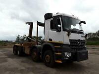 2014 MERCEDES AROCS 3240 EURO 6 ULEZ 32TON HGV 8X4 HOOK LOADER TRUCK LORRY TRUCK