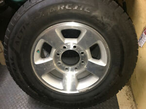 Dodge 8 bolt rims and winter tires like new