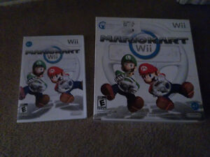 Mario Kart Wii with Wheel and Big box for wheel+game