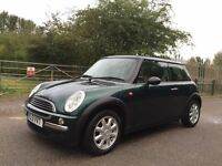 Mini one racing green+cream leather+panoramic roof+A/C
