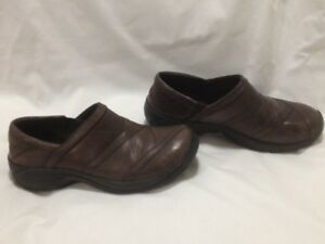 Ladies Sporty Dark Brown Leather Merrell Walking Shoes 7M