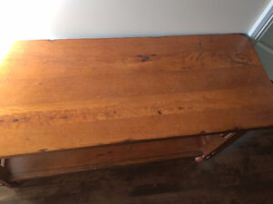 Console table - distressed pine