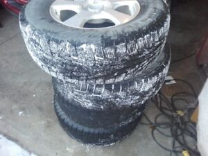 4 winter tires on ford escape rims 235/70R16