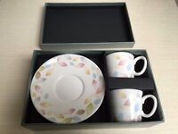 BEAUTIFUL TEA AND SAUCER GIFT SETS IN SHOE BOXES PERFECT GIFTS or PRESENTS