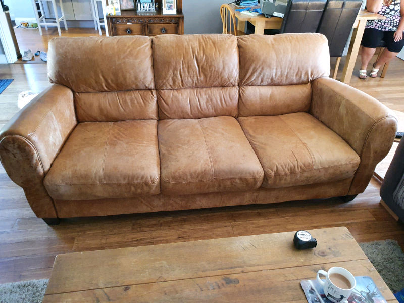 DFS leather sofa | in Fordingbridge, Hampshire | Gumtree