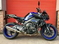 YAMAHA MT10 QUICKSHIFTER, HEATED GRIPS, TAIL TIDY