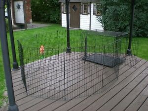 FOLDING DOG CAGE / CRATE & PLAY / EXERCISE PEN SET