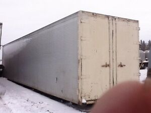 Semi-Aluminum Insulated Trailer Van Body 50 Footer for Storage