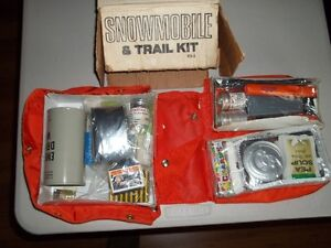 Vintage Snowmobile Survival Kit, only $35.00